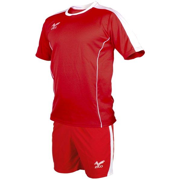 Equipación de futbol personalizada Rojo-Blanco