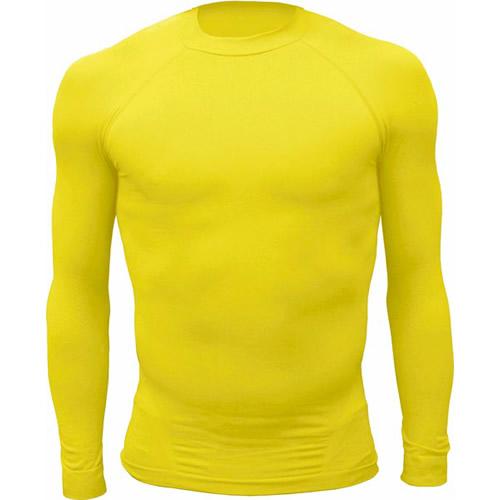 Camiseta segunda piel personalizada amarilla ... 4baf16102bb66