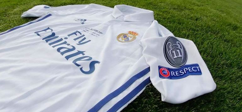 Camiseta de futbol del Real Madrid